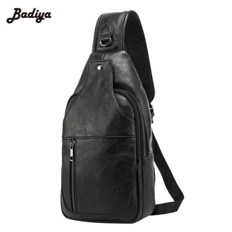 3a663e76170 Water Proof PU Leather Soft Mens Chest Bag Hot Selling Europe Style ...