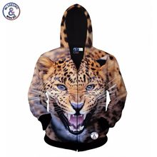 2017 Mr.1991INC Autumn winter fashion zipper jacket for men/women 3d hoodies hoody print fierce tiger hooded sweatshirt tops