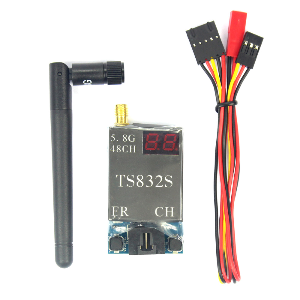 FPV 600mw Aerial Photography TS832 5.8G 40CH AV Transmitter System Drone Accessory Parts Black Color Optional FreeShip F07271