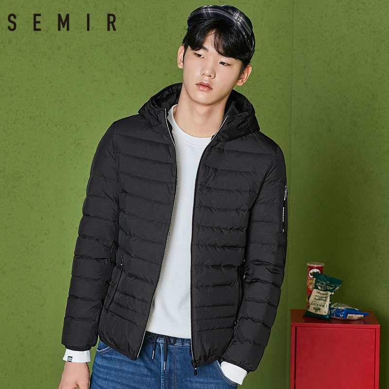 Outwear Jackets Korean-Version SEMIR Winter Windproof Casual New Male Short Warm Men