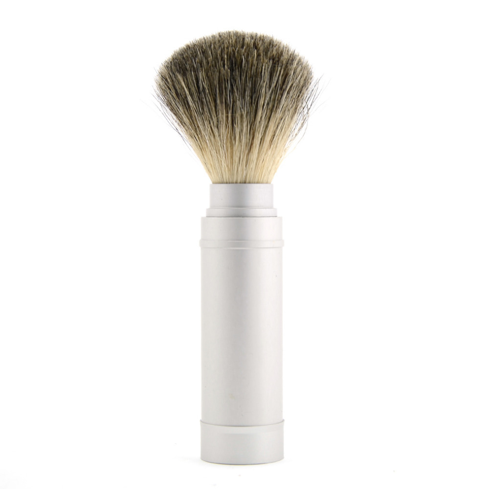 ZY Removable Pure Best Badger Hair Shaving Beard Brush For Men Shave Beard Soap Brushes Travel Aluminum Metal Handle