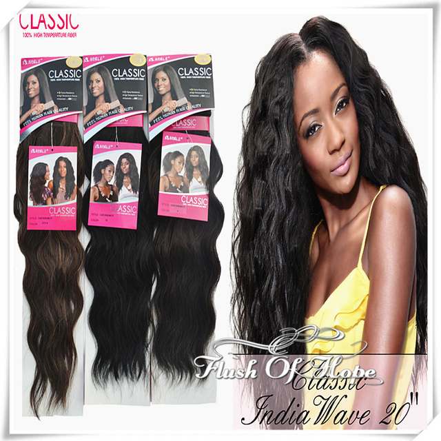 Noble Classic Indian Wave Synthetic Hair Extension Natural Wave High