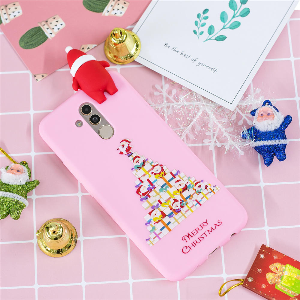 3D Merry Christmas Case For Huawei Mate 20 Lite Case Silicone Soft TPU Phone Cases For Huawei Mate 20 Lite Case Cover