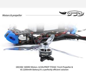 Image 4 - GEPRC Crocodile 7 Pro Long Range FPV Drone 315mm Frame 2306 1600kv motors DALProp T7056C Props Runcam Micro Swift FPV Camera