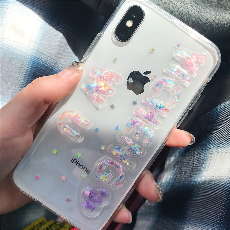 For Huawei Mate 7 8 9 10 lite Pro Luxury Lovely girls flash Exclusive Customize Name Personal Glitter soft phone case