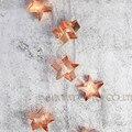 Питание От аккумулятора 20 Меди Звезды Cookie Cutter СВЕТОДИОДНЫЕ Строки Сказочных Огней Украшения Свет для Фестиваля Рождество Свадьбу