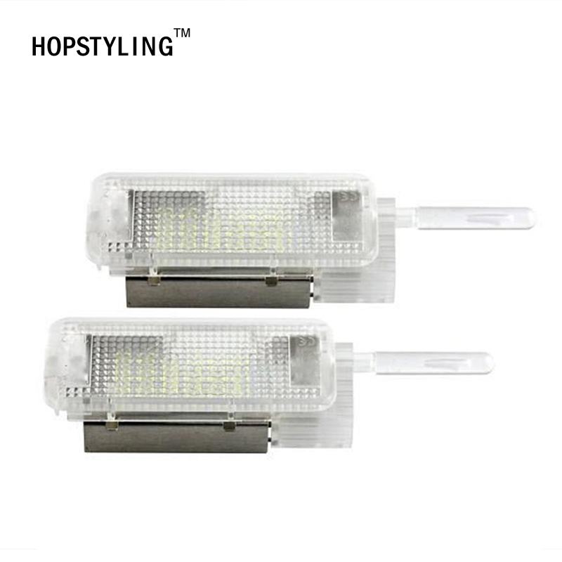 HOPSTYLING 2x For Citroen/Peugeot 1007 206 306 307 3008 LED Luggage Compartment Light  LED interior light  auto accessories for volkswagen passat b6 b7 b8 led interior boot trunk luggage compartment light bulb