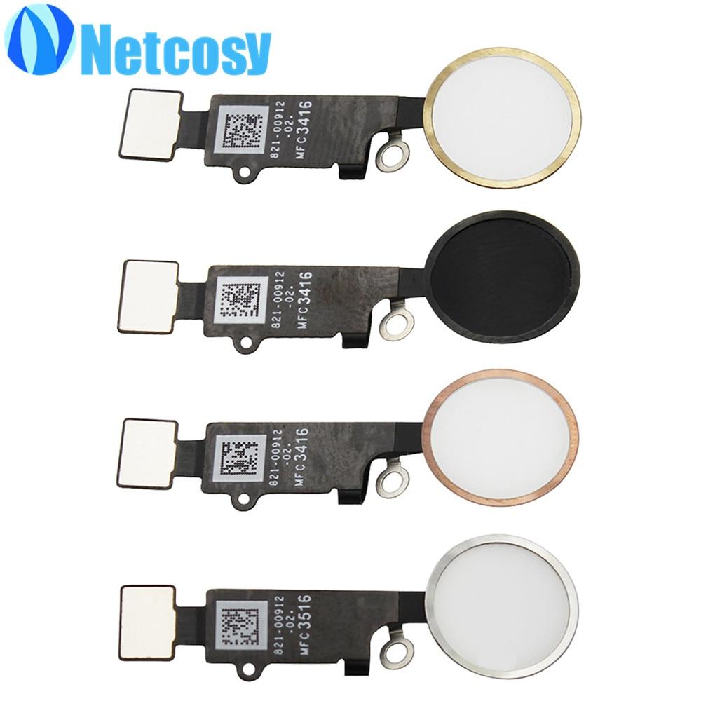 For iphone 7 7plus Home Button Fingerprint button Flex Cable Replacement parts for iphone 7 7plus