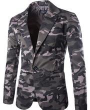 Брендовая одежда Для мужчин одна кнопка камуфляж Блейзер легкий и тонкий костюм Slim Fit Homme пиджак Для мужчин блейзер
