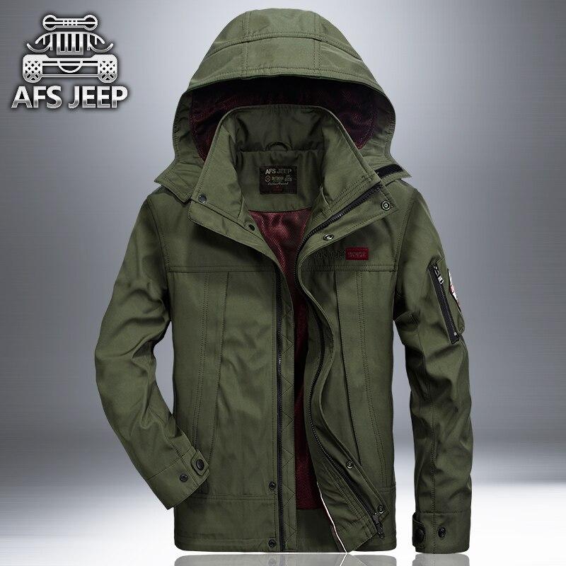Brand jacket men high quality Spring & Autumn mens fashion AFS JEEP jacket army jacket windbreaker militar hooded coat