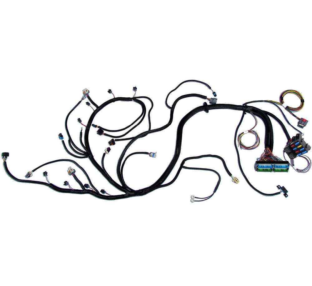 03 07 vortec chevy standalone wiring harness w 4l60e dbw ev6 fuel injectors  [ 1000 x 917 Pixel ]