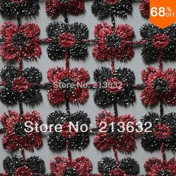 POs24 -64 textile professional wire water soluble embroidery fabrics Clothing textile embroidery cloth new Best designer yarn