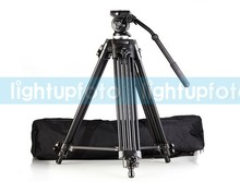 Professional Portable Camera Tripod Aluminum Alloy EI717 1.8m 6ft Video Camera Tripod Fluid Pan Head High Quality