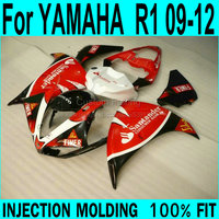 Decal & Fairing kit For YAMAHA R1 09 12 Fairings ( red ) yzfr1 Injection molding +7gifts ll64