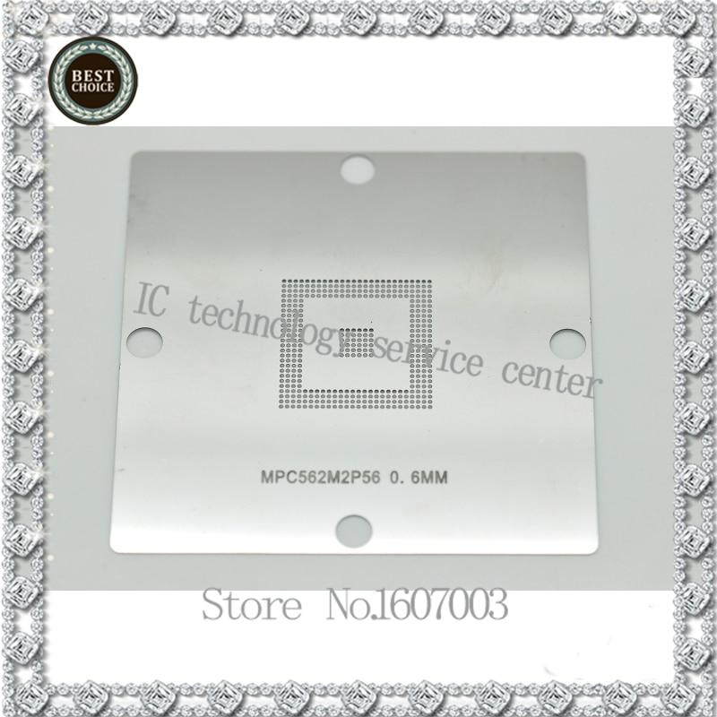 E7/E16 stencil MPC561/562/555 for BGA CPU chip bumping with steel mesh 0.6MM