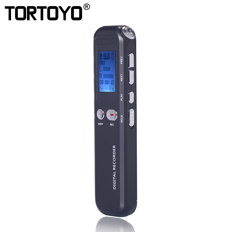 Tortoyo Professionelle 8 Gb Hd Digital Voice Recorder Audio Aufnahme Stift Smart Noise Reduktion Sound Control Diktiergerät Mp3 Player GroßE Vielfalt Digital Voice Recorder