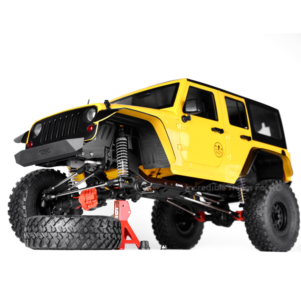Image 5 - INJORA Black Plastic Front&Rear Mud Flaps Fender for 1/10 RC Crawler Axial SCX10 II 90046 90047-in Parts & Accessories from Toys & Hobbies