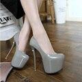 2016 Elegant High Heels Fashion  Ladies Pumps Sexy Spring Autumn Platform Shoes Woman Black Red Blue Women Shoes
