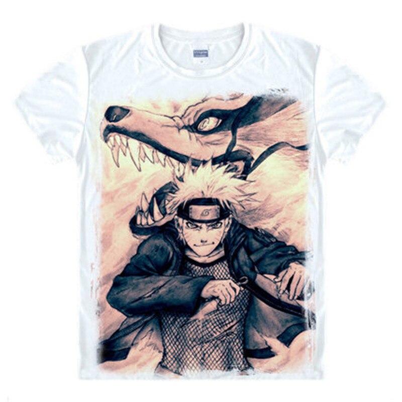 Naruto akatsuki 로고 패턴 T 셔츠 Itachi Uchiha 애니메이션 나루토 T 셔츠 Tshirt Cosplay Costume Top Tees 사스케 카카시