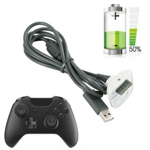 Para Xbox 360 Controlador Controlador Sem Fio do Carregador de Carregamento Preto Cabo de Carga USB Cord Kit Chumbo cabo para Microsoft Xbox 360