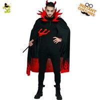 Men's Devil Costumes Halloween Hooded Evil Horror Demon Costume Fire frame Robe Halloween Cosplay Carnival Party Costumes