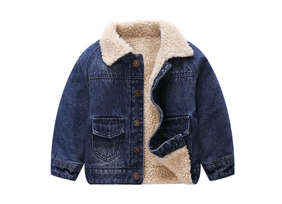Winter Girls Coat Baby Boy Cowboy Jacket Children Wings Embroidered Velvet Jacket Kids Back Scratch Holes Bomber Jacket 1 5 Yrs