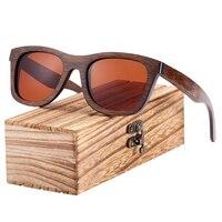 Gafas de sol de madera de bambú marrón UV400