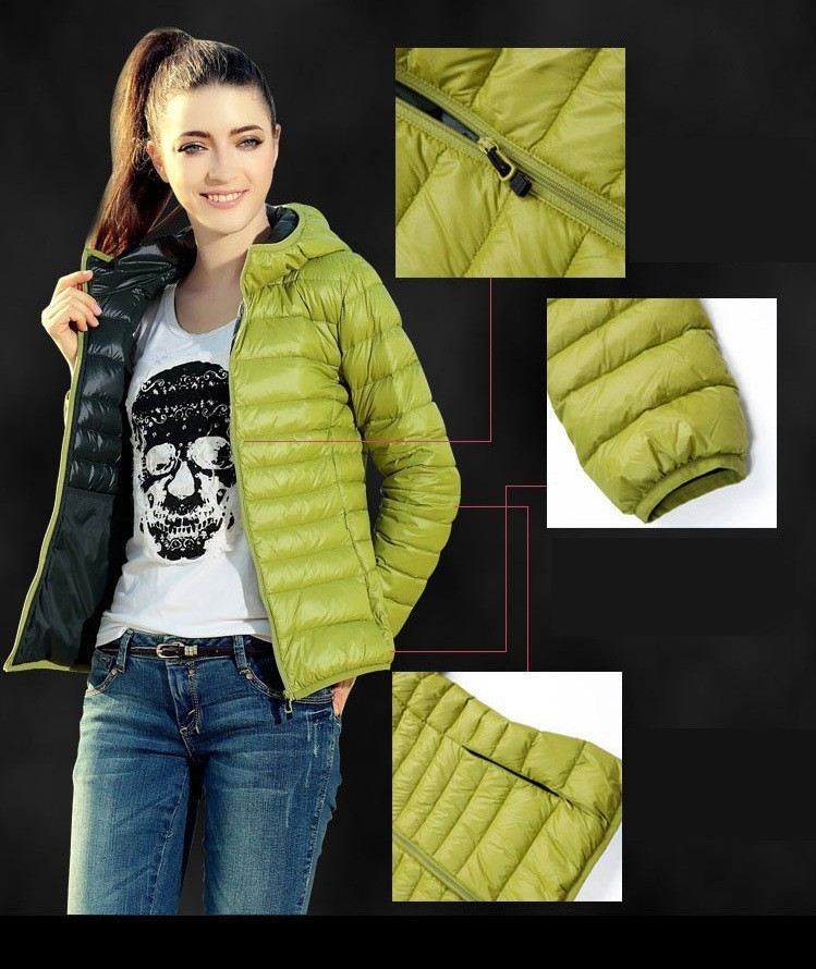 winter duck down jacket women europe woman thin down jackets plus ...