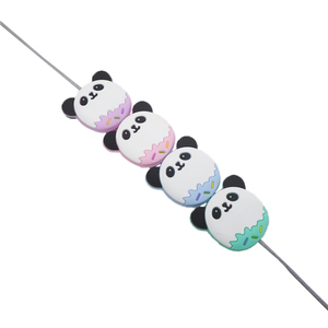 Image 5 - Chengkai 50 PCS Silicone Panda Kralen DIY Baby Schattige Dieren Tandjes Oral Care Hanger Douche Bijtring Zintuiglijke Sieraden Speelgoed Gift