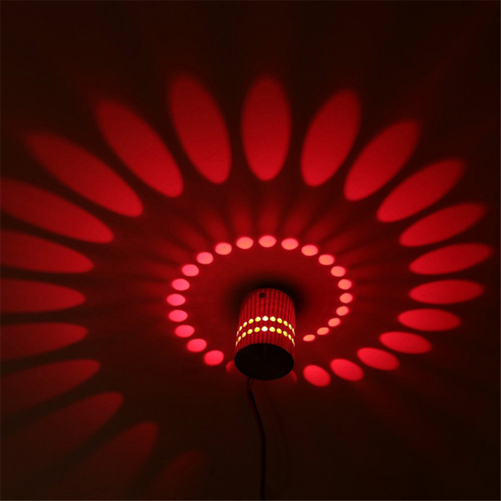 Tanbaby Creative led wall lamp RGB modern light fixture luminous lighting sconce 3W AC85 265V indoor Wall decoration light in LED Indoor Wall Lamps from Lights Lighting