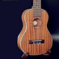 28 дюймов Гавайская гитара Мини гитара 6 Strings Ukelele Гавайский сапели гитара Электрический Укулеле с Пикап EQ струнный музыкальный инструмент
