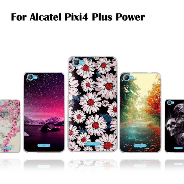 low priced b968a e5053 US $0.94 15% OFF|Phone Case For Alcatel Pixi 4 Plus Power OT5023 5.5 inch  Soft Back TPU Cover For Alcatel Pixi 4 Plus Power Thin 3D Relief Cases-in  ...