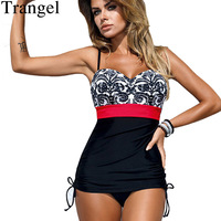 Trangel One Piece Swimsuit Of Large Size Swimwear Push Up Swimsuit Plus Size Monokini Women Multicolor
