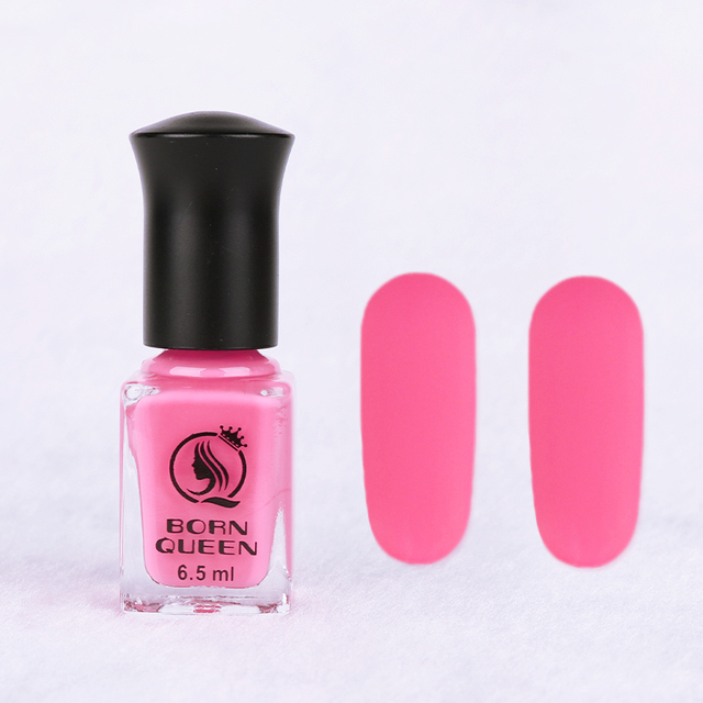 1 Bottle 6.5ml BORN QUEEN Rose Red Matte Dull Nail Polish Fast ...
