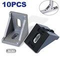 3030 Угловые 30x30 декоративные кронштейны алюминиевый профиль аксессуары L коннектор для крепления коннектора упаковка из 10