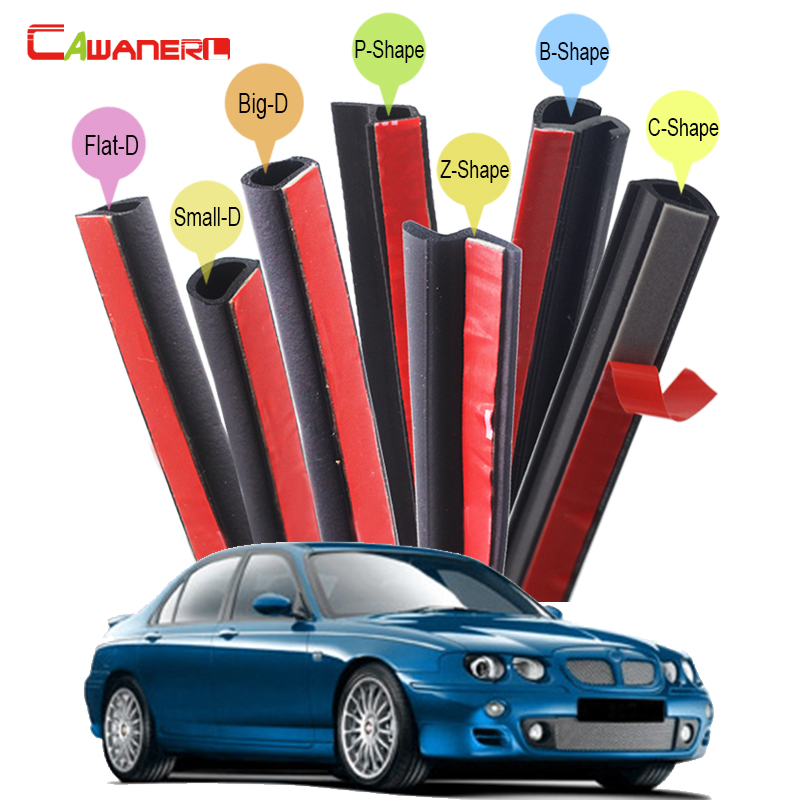 Cawanerl Car 4-Door Hood Trunk Seal Sealing Strip Kit Sound Insulation Rubber Seal Edge Trim Weatherstrip Anti Dust For MG ZS ZT cawanerl whole car hood trunk door sealing seal strip kit seal edging trim rubber weatherstrip for jaguar c x17 f pace