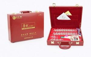Image 4 - Cinese di trasporto cupping KangZhu Deluxe Vacuum Terapia Set 24 Tazze Custodia In Pelle la terapia coppettazione pacchetto regalo