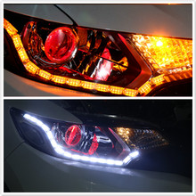 2x For peugeot 408 308 RCZ Citroen C4L Fiat Viaggio Opel Toyota Lada LED Car Crystal DRL Daytime Running Strip Turn Signal Light