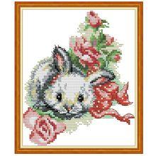 Кролик DIY ручной работы Рукоделие Счетный 14CT напечатаны крестиком комплект с вышивкой украшения дома