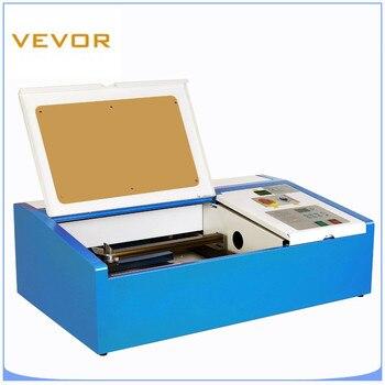 Лазерный резак 40 Вт CO2 лазерный гравировальный станок для резки древесины резец кожи 300x200мм