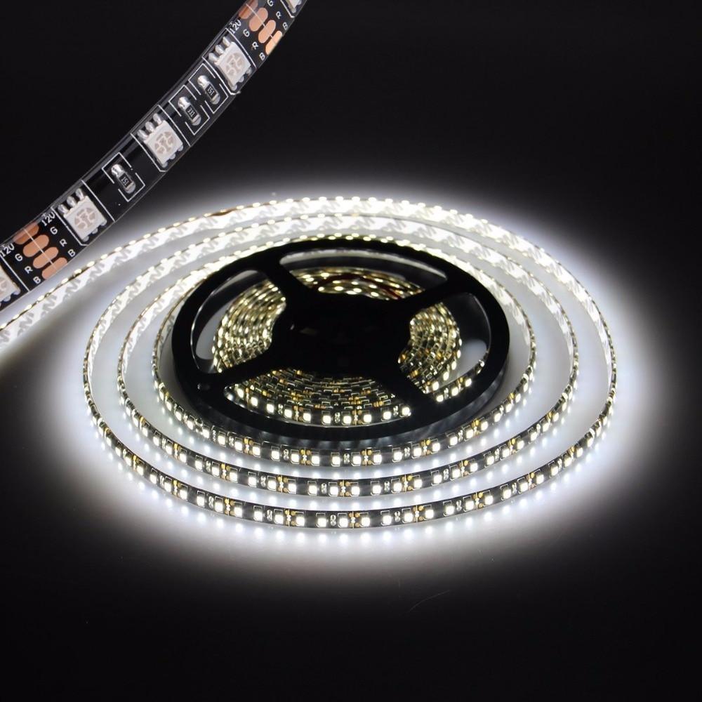 tira de luz led negro pcb 5050 impermeable ip65 300led 5m dc 12v - Iluminación LED - foto 1
