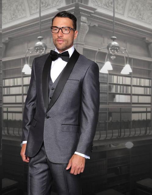 Hot Sale 2018 Customized Smoking grey wedding tuxedos custom made ...