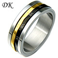 Rome stainless steel ring Retro Rome Lucky Number Titanium Steel Ring Personality Rotatable Ring