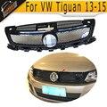 Tiguan fir fibra de carbono do amortecedor dianteiro grille grills para VW Tiguan 2013-2015