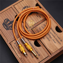 ToP Quality Orange 1 Pcs Silicone RCA Clip Cords Plug Tattoo Power Supply 180cm Clip Cord For Permanent Tattoo Machine