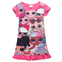 New Summer Dress Sweet Dress Cartoon Doll Ball Gown Baby Girl Clothes Roupas Infantis Menina Girls
