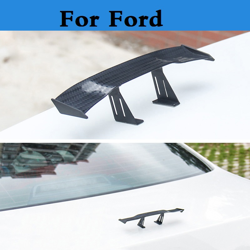 Car-styling Mini Model Auto Spoiler Rear Wing Sticker For Ford Fusion GT KA Kuga Maverick Mondeo ST Mustang Taurus X Thunderbird