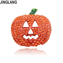 Cheap Halloween Fashion Beautiful Rhinestone Pumpkin Christmas Gift Wedding Brooch Women !