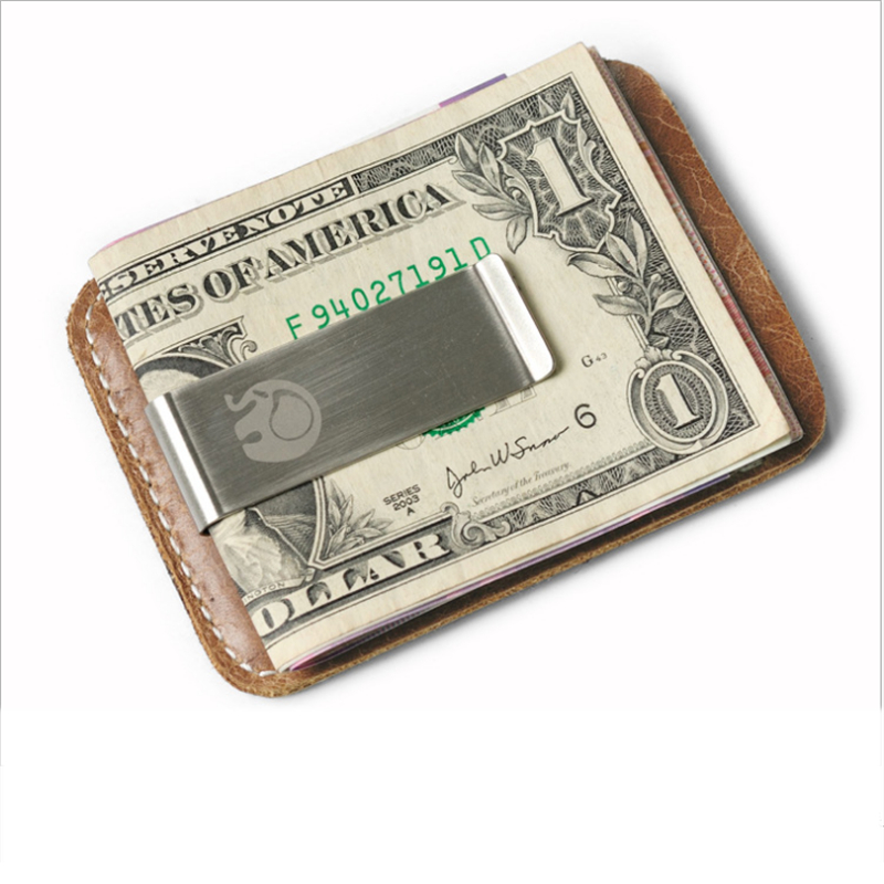 New PU Leather Money Clip Wallet Men Slip Metal Short Wallets Men Slim Clutch Men Mini Convenient Wallet