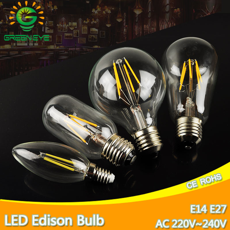 LED Edison Bulb E27 LED Lamp E14 220V Antique Retro Vintage Filament Light Glass Bulb 4w 6w 8w 12w Candle Lamparas Bombillas retro lamp st64 vintage led edison e27 led bulb lamp 110 v 220 v 4 w filament glass lamp